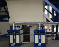 holding tank for tile adhesive machine